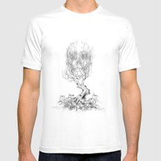 Extinction  MEDIUM Mens Fitted Tee White