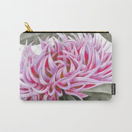 Pink And Gray Spring Peony Bouquet Carry-All Pouch