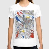portland T-shirts featuring Portland by Mondrian Maps
