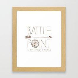 Battle Point Framed Art Print