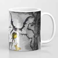 maleficent Mugs featuring Maleficent  by Jena Sinclair