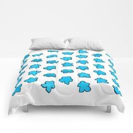 Meeple Mania Icy Blue Comforters