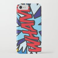 comic book iPhone & iPod Cases featuring Comic Book WHAM! by The Image Zone