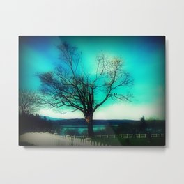 A Tree with a View Metal Print