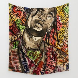 La flame,music,hiphop,poster,astro world,tour,wall art,artwork,painting,colourful Wall Tapestry