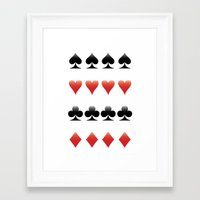 suits Framed Art Prints featuring Suits by doodletome