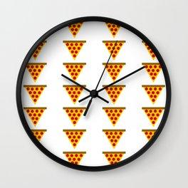 Cartoon Pizza Wall Clock