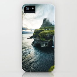 waterfall at faroe iPhone Case