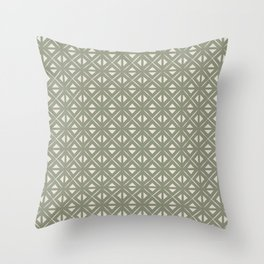 Bohemian Tile in Sage Throw Pillow