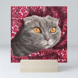 Scottish fold cat Mini Art Print