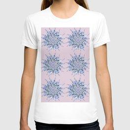 Blue heart mandala T-shirt