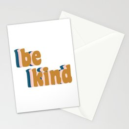 Be Kind Fun Retro Lettering Stationery Cards