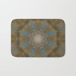 Gold Liquid Turquoise Star Elegance Bath Mat