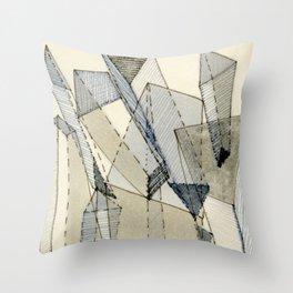 Blue Grey Transparency Throw Pillow