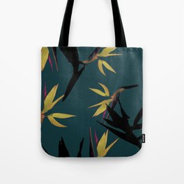 Fall print in forest green and mustard (also available in navy and blue) Tote Bag