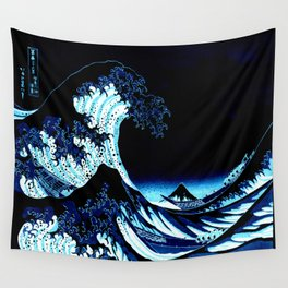 the Great Wave Blue Wall Tapestry