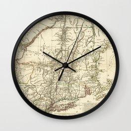 American Revolutionary War Map (1782) Wall Clock