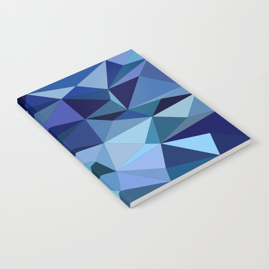 Blue triangles Notebook