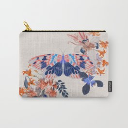 Exotic Butterfly Flower Tropical Carry-All Pouch