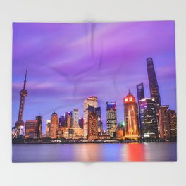 Shanghai - World Big City Throw Blanket