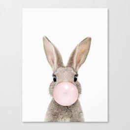 Bubble Gum Rabbit Canvas Print