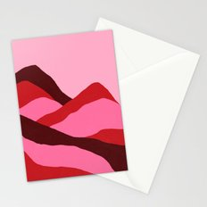 Climb red Stationery Cards