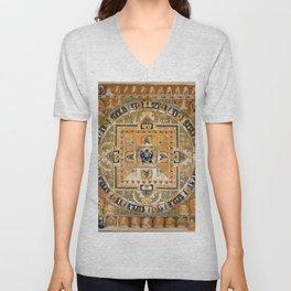 Buddhist Mandala Vajrabhairava 1 Unisex V-Neck