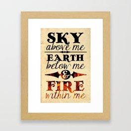 Sky Earth Fire Framed Art Print