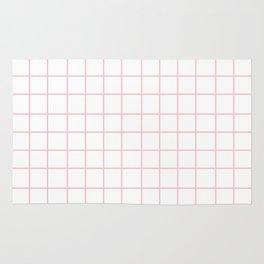 Grid (Pink/White) Rug