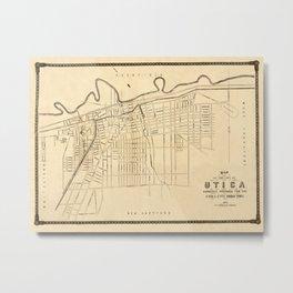 Map Of Utica 1874 Metal Print