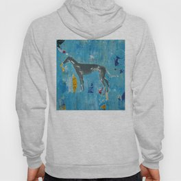 Greyhound Dog Abstract Painting Hoody