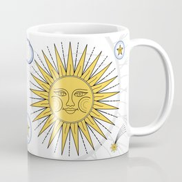 Vintage Sun and Moon Coffee Mug