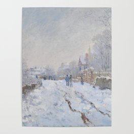 Snow Scene at Argenteuil by Claude Monet Poster