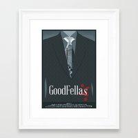 goodfellas Framed Art Prints featuring Goodfellas Movie Poster by ZTH Design