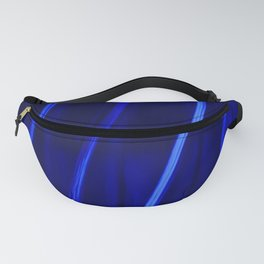 Abstract Crystal Blue Persuasion Fanny Pack