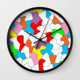 Multi-colored Shapes  Wall Clock