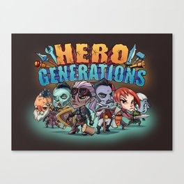 Hero Generations by Heart Shaped Games Canvas Print