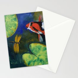 Showa Koi and Dragonfly Stationery Cards