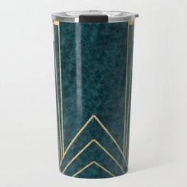 Art Deco glamour - teal and gold Travel Mug