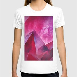 Intriguing Ruby Red Chrystal Abstract Pattern  T-shirt