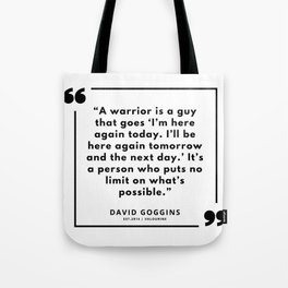 65 | David Goggins Quotes | 190901 Tote Bag