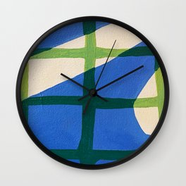 Shadow on Tiles Wall Clock