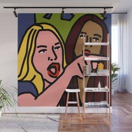 Woman Yelling Wall Mural
