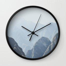 Mountains around Machu Picchu Wall Clock