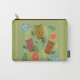 Bamboo Tiki Room Pattern Carry-All Pouch