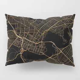Black and gold Perth map Pillow Sham