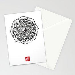 Taoist Lotus Mandala Stationery Cards