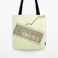 code Tote Bags featuring Konami Code by Robotic Ewe
