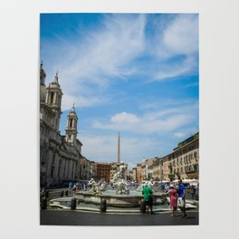 Piazza Navona in Roma Poster