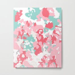 Arabella - abstract minimal pattern print art home decor trendy girly boho dorm college painting Metal Print